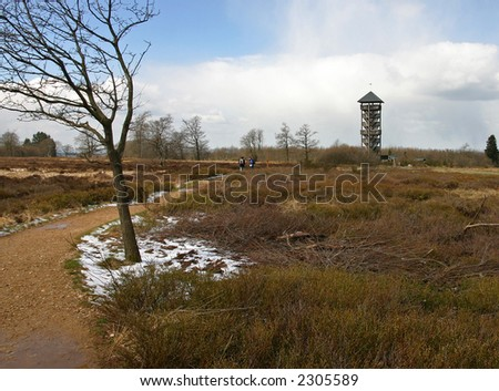 Landscape in the Ardennes,Belgium - stock photo