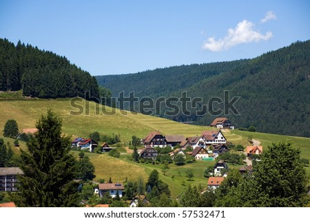 Landscape in the Black-forest, Germany - stock photo
