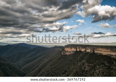Landscape in the Blue Mountains, New Wales, Australia