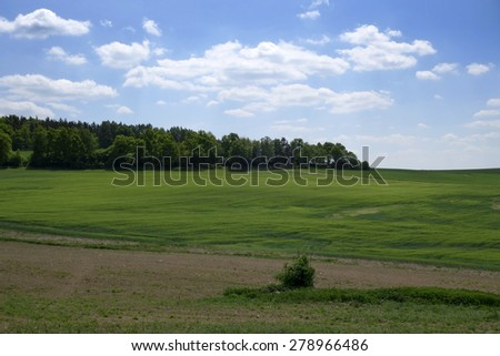 Landscape in the south of Czech Republic