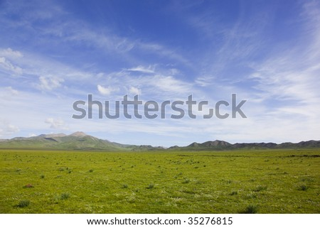 landscape in the west of china - stock photo