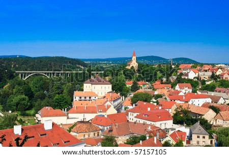 Landscape in Veszprem in summer, Hungary - stock photo