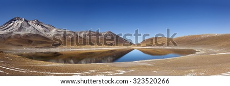 Landscape. Mi�±iques Lagoon. North of Chile - stock photo