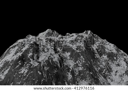Landscape Mountain in Motion. Nice 3D Rendering
