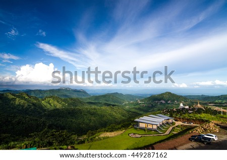 Landscape Mountain with blue sky