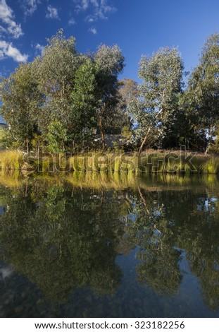 Landscape near National Gallery. Canberra. Australia - stock photo