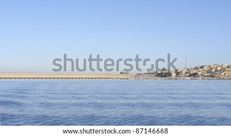landscape near Philae in Egypt (Africa) - stock photo