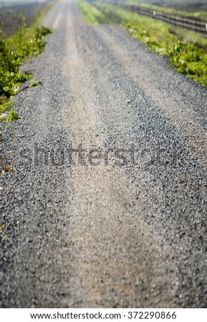Landscape of a desolate road at dawn  - stock photo
