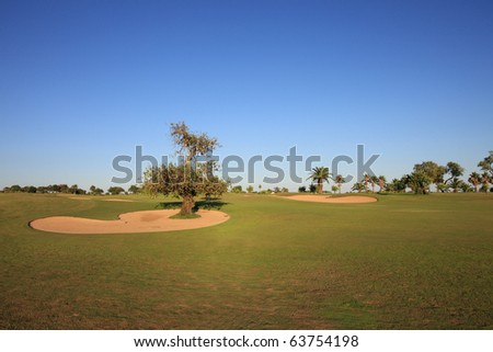 Landscape of a golf course. - stock photo
