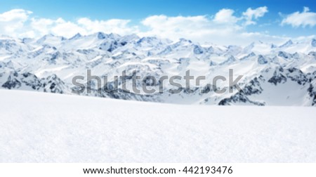 landscape of alps and rocks and ice and snow space