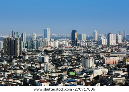 Landscape of Bangkok city day view