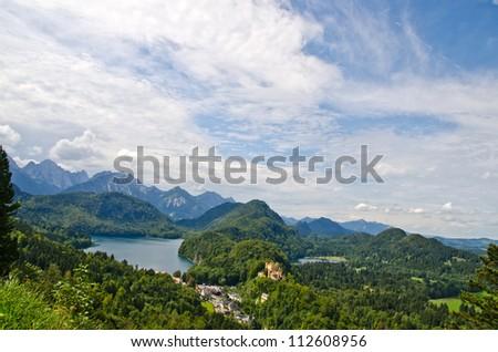 Landscape of Bavarian Alps in Germany - stock photo