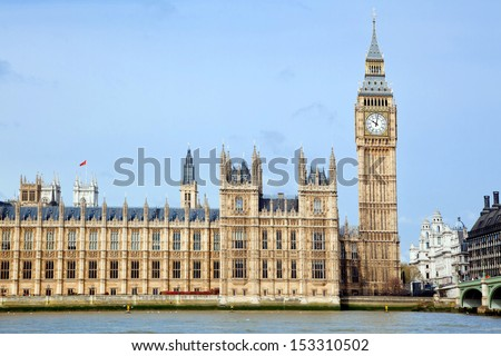 landscape of big ben at city westminster London England UK