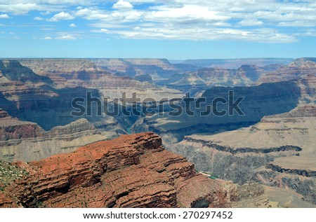 Landscape of canyon, Grand Canyon National Park, Arizona