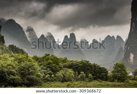 Landscape of  Guilin ,China