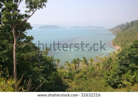 Landscape of island Koh Chang Thailand - stock photo