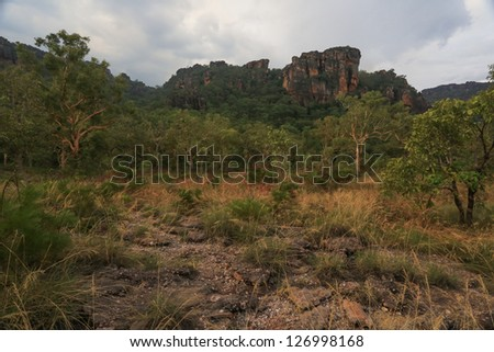 Landscape of Kakadu National Park before storm, Australia, Austr