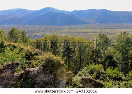 Landscape of Khust, Ukraine - stock photo