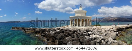 Landscape of Lighthouse of St. Theodore at Argostoli, Kefalonia, Ionian islands, Greece - stock photo