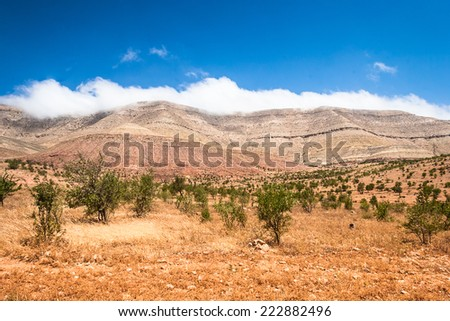 Landscape of Morocco at summer. Atlas Mountains - stock photo