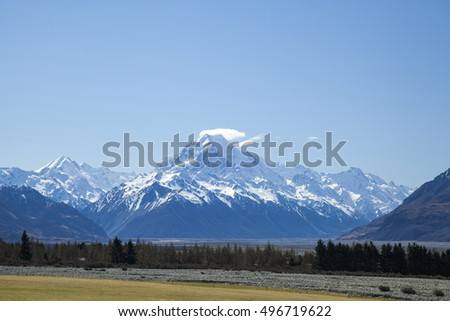 landscape of mount cook national park, South Island, New Zealand,