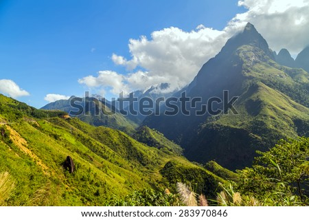 Landscape of mountain Sa Pa. Lao cai province northern Vietnam