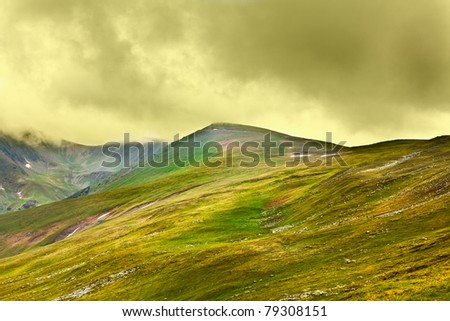 Landscape of Parang mountains in Romania, in summer - stock photo