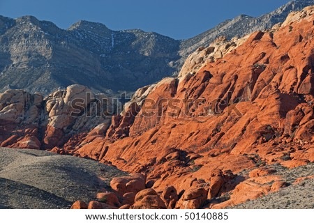 Landscape of Red Rock Canyon, Nevada, USA - stock photo