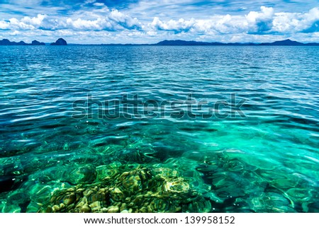 Landscape of sea in the Andaman Sea, Thailand