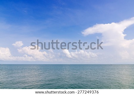 Landscape of sea sky and cloud, summer in Thailand
