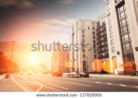 landscape of shanghi,Vintage building exterior - stock photo