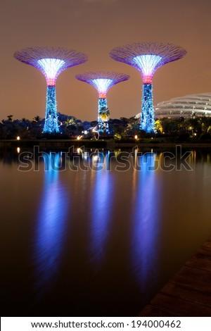 Landscape of Singapore. - stock photo