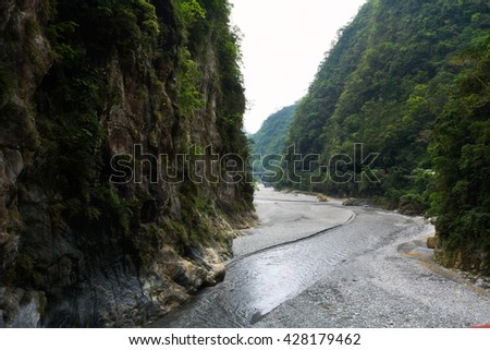 Landscape of Taroko National Park in Hualien, Taiwan