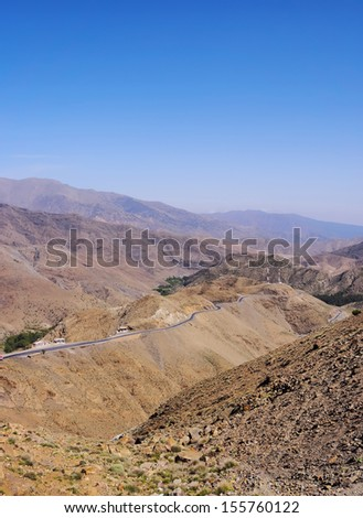 Landscape of the Atlas Mountains in Morocco, Africa - stock photo
