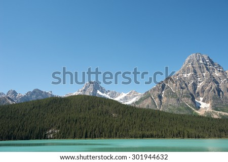Landscape of the Canadian Rockies.  - stock photo