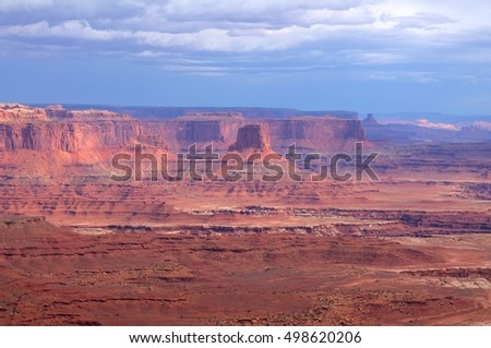 Landscape of the Canyonlands National Park