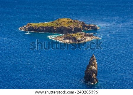 Landscape of the Easter Island in South America, Pacific Ocean, Chile - stock photo