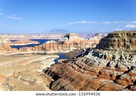 landscape of the lake Powell, Arizona - stock photo