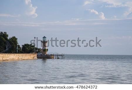 Landscape of the lighthouse with sea view
