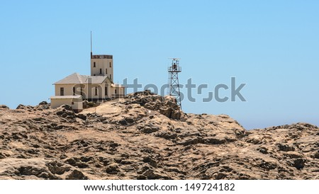 Landscape of the Luderitz, a harbour town in south-west Namibia, lying on one of the least hospitable coasts in Africa. - stock photo