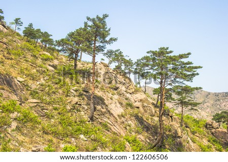 Landscape of the Mount Kumgang high mountain in Kangwon-do, North Korea,