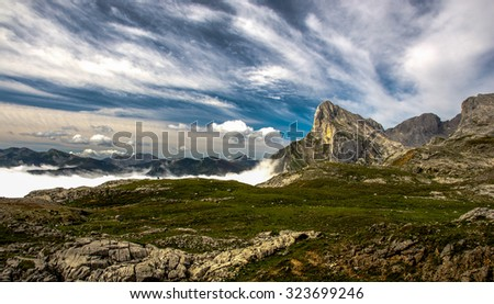 Landscape of the Picos de Europa, Cantabria