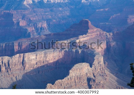 Landscape of the rugged Grand Canyon of Arizona, USA