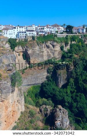 Landscape of the Spanish city Ronda - stock photo