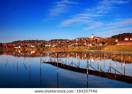 Landscape of Tihany, Hungary - stock photo