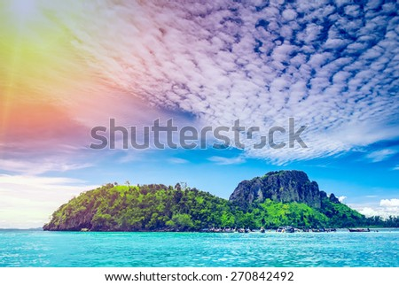 landscape of tropical island, Krabi province, Thailand - stock photo