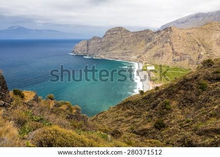 Landscape on Gomera Island, Spain - stock photo