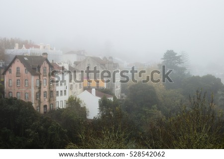 Landscape on the famous Sintra with Fog