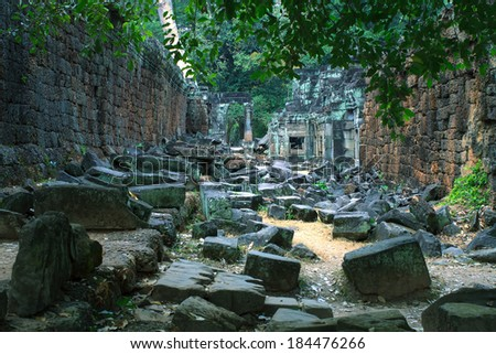 Landscape photo of Classical picture of ancient Cambodian  Temple, Angkor, Cambodia