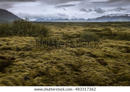 Landscape photography from national park in Iceland